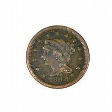 1848 Large Cent Coin