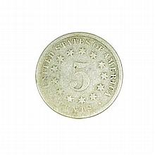 18XX Nickel Five Cent Piece Coin