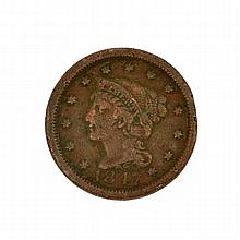 1847 Large Cent Coin