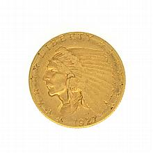 1927 $2.5 U.S. Indian Head Gold Coin