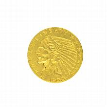 *1908 $2.5 U.S. Indian Head Gold Coin