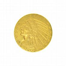*1909 $5 U.S. Indian Head Gold Coin