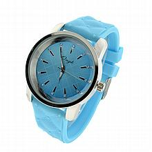 New Onyk, Stainless Steel Back, Water Resistant, Blue Rubber Strap, Ladies Watch