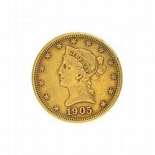 1905 $10 U.S. Liberty Head Gold Coin