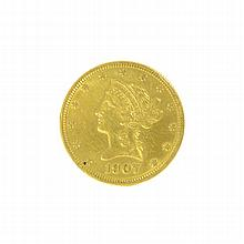 *1907 $10 U.S. Liberty Head Gold Coin (DF)