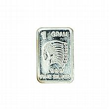 1 Gram Indian Head .999 Fine Silver Bar