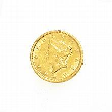 1853 $1 U.S. Liberty Head Gold Coin