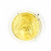 1986 $5 Statue Of Liberty Gold Coin