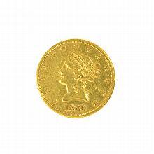 *1880-S $10 U.S. Liberty Head Gold Coin (DF)