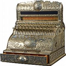 Rare Very Early Cast-Iron Cash Register w/keys -P-NR-