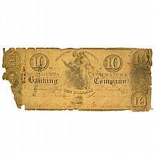 1832 Augusta GA.$10 Note