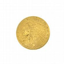1908 U.S. $2.5 Indian Head Gold Coin