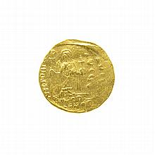 Extremely Rare Museum Byzantine Empire Phocas AD 602-610  AV Solidus Gold Coin