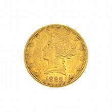 *1888-S $10 U.S. Liberty Head Gold Coin (DF)