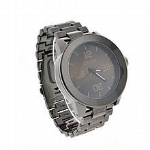 New Onyk Stainless Steel Back, Black Metal Band, Water Resistant Watch