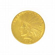 *1910 $10 U.S. Indian Head Gold Coin