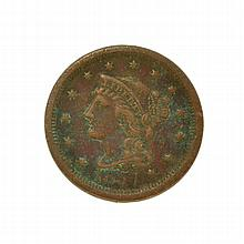 1854 Large Cent Coin