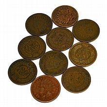 10 US Indian Head Various Years Cent Coin