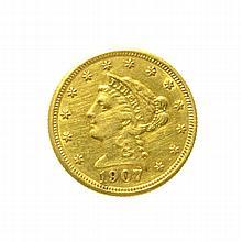 1907 $2.50 U.S. Liberty Head Gold Coin