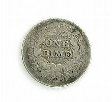 1850 Seated Liberty Dime Coin