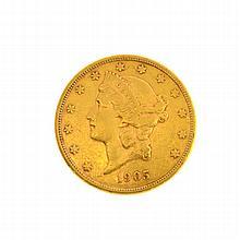 *1905-S $20 U.S. Liberty Head Gold Coin (DF)
