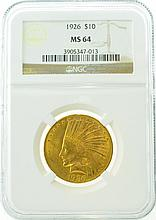 *1926 $10 MS 64 NGC Indian Gold Coin (DF)