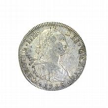 1796 Eigth Reales American First Silver Dollar Coin