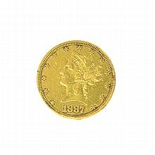 *1887-S $10 U.S. Liberty Head Gold Coin