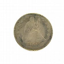 1853-O Liberty Seated Arrows At Date, Rays Around Eagle Quarter Dollar Coin