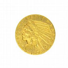 *1908 $5 U.S. Indian Head Gold Coin
