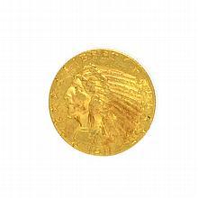 *1911 $5 U.S. Indian Head Gold Coin (DF)