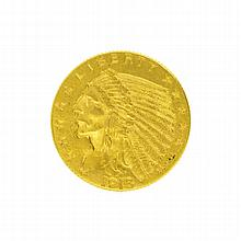 *1913 $2.5 U.S. Indian Head Gold Coin