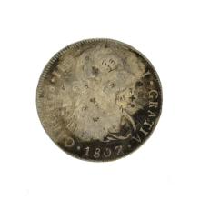 1807 Eight Reales First Silver Dollar Coin