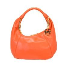 ^Brand New Michael Kors Leather Item Hobo Burnt Orange Bag