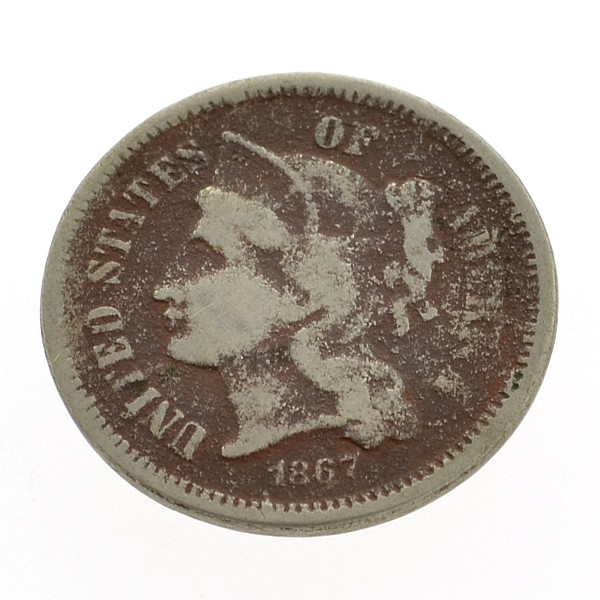 1867 Three-Cent Nickel Coin