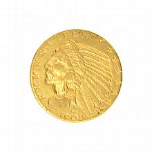 *1909-D $5 U.S. Indian Head Gold Coin