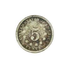 1869 Nickel Five Cent Piece Coin