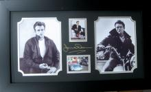 Engraved James Dean Signature With Real Swatch of Clothing