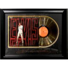 Elvis Engraved with Gold Album