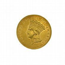 1861 $3 U.S. Princess Gold Coin