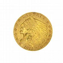 1911 U.S. $2.5 Indian Head Gold Coin