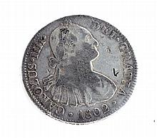 1802 Eight Reales First Silver Dollar Coin