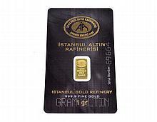 Istanbul Altin Rafinerisi 1 Gram 999.9 Fine Gold Bar