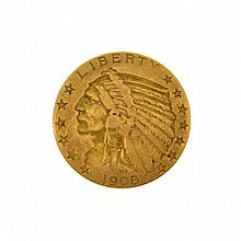 1908 $5 US Indian Head Type Gold Coin