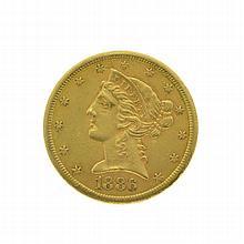 1886-S $5 U.S. Liberty Head Gold Coin