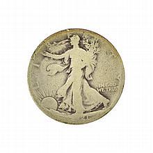 1921-D Walking Liberty Half Dollar Coin