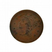 1852 Large Cent Coin