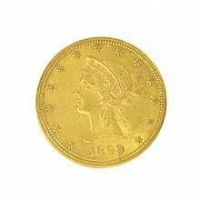 *1899 $10 U.S. Liberty Head Gold Coin