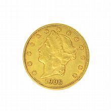 *1906-D $20 U.S. Liberty Head Gold Coin