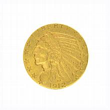 *1912 $5 U.S. Indian Head Gold Coin